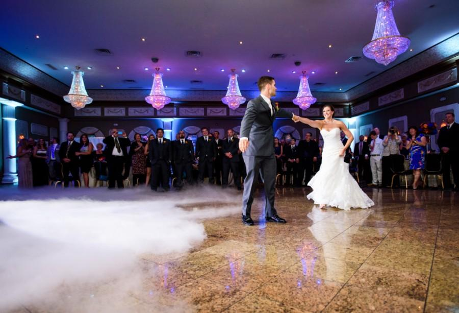 The newly wedded couple was surrounded by 175 of their closest friends and family.