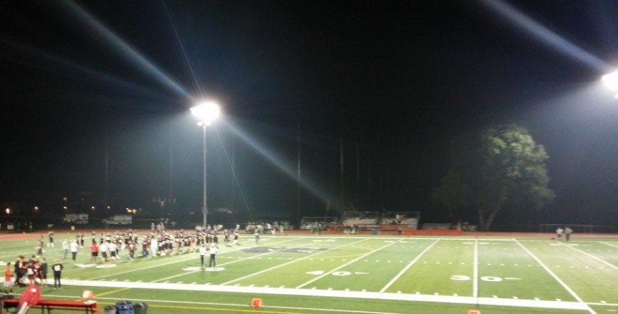 Glen Rock Football played their first game with newly installed lights this past Friday.