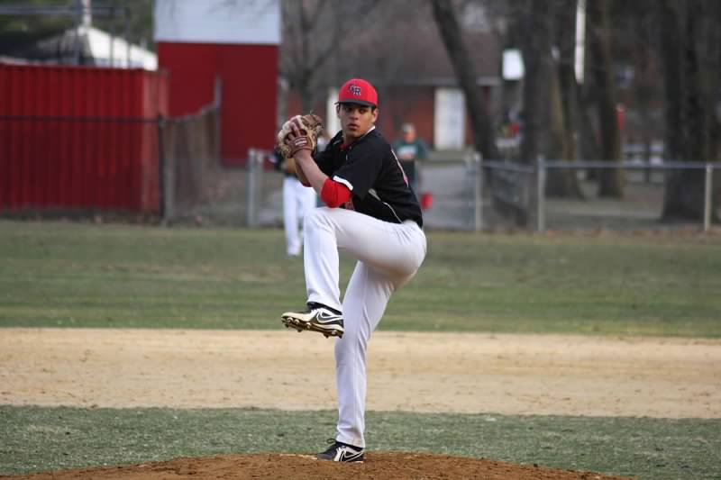 Jason Palmeri, Rutgers-Newark commit, pitching in a 6-1 win over Pompton Lakes last season.