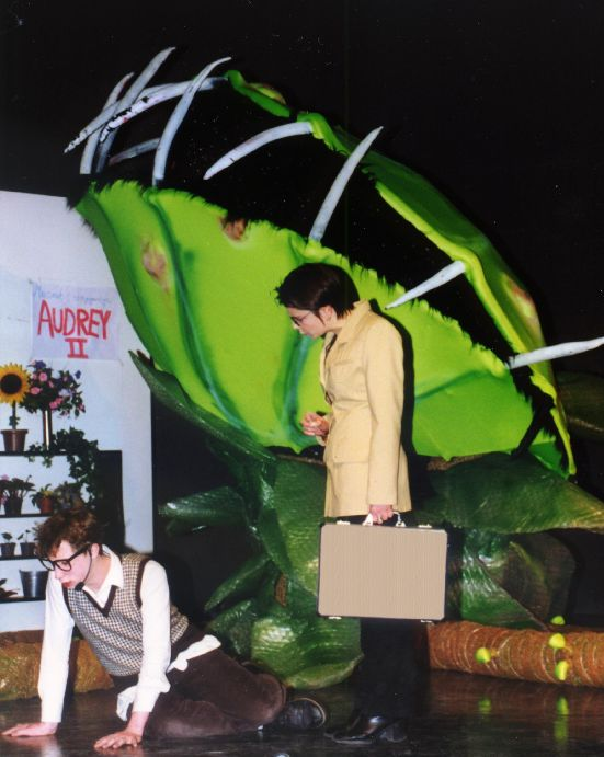 A scene from a production of Little Shop of Horrors