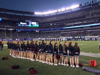 On Friday, Dec 4. the girls cheered at Metlife Stadium for the high school football championship game.