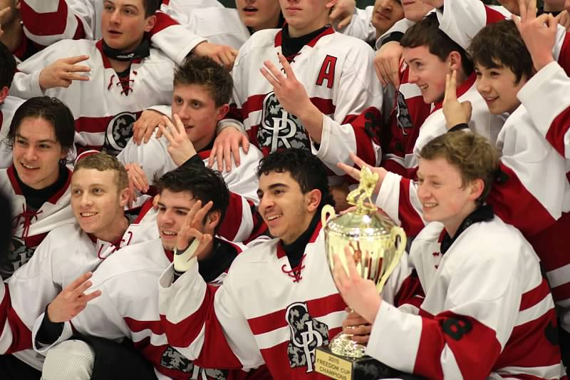 Glen Rock after they beat St. Josephs for the for the cup.