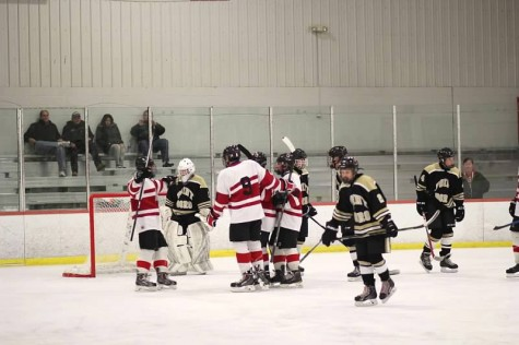 Glen Rock celebrating after one of Corvelli's four goals.