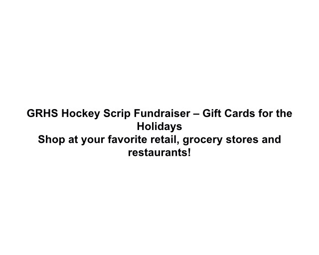 You can purchase a gift card by filling out a form and check to the Glen Rock Hockey Association