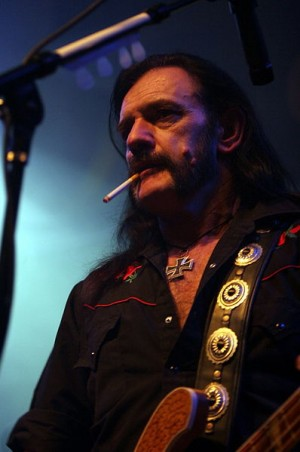 Lemmy performing with Motörhead.