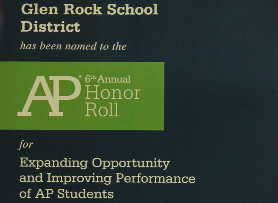 Hung+at+the+entrance+of+the+junior+hallway%2C+a+poster+presented+by+the+AP+College+board+acknowledges+the+school%27s+honor.