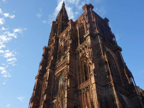 The Strasbourg Cathedral is one of the city's most famous landmarks. It was the world tallest building for 227 years.