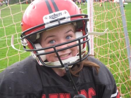 In fifth grade, Julia Rooney was the only girl on the Glen Rock football team.