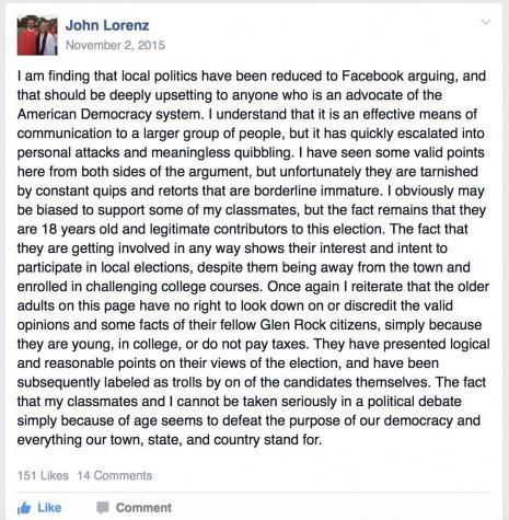 Glen Rock residents weigh in on social media