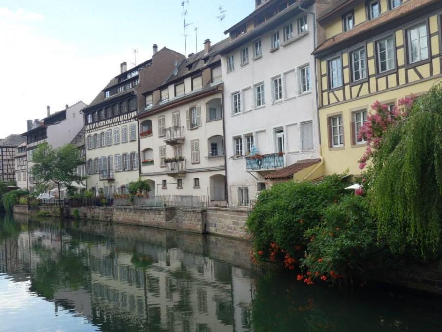 A view of Petite France. Many of the buildings in this neighborhood are over 500 years old.