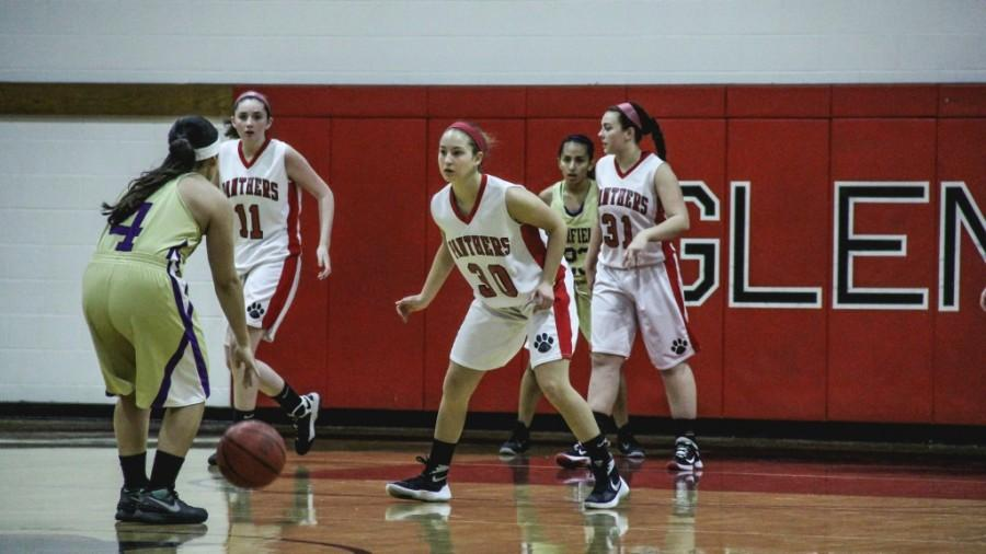 Allie Denenberg focuses on the ball in search for a steal.