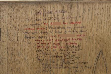 A clever Continue-the-Story can be found one of the desk in the media center.