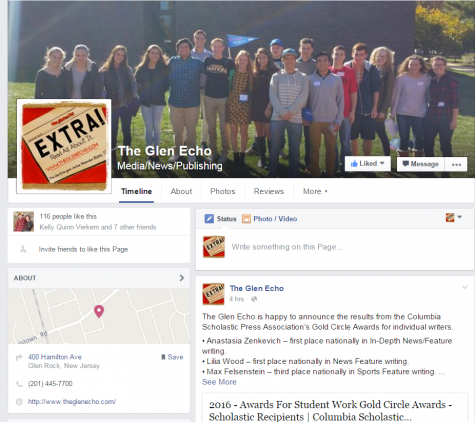 The Glen Echo makes new Facebook page