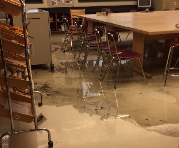 The leakage began around noon on Feb. 2, 2016.