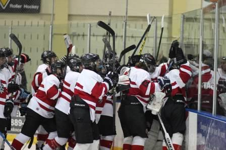 Glen Rock celebrates after a 5-1 semi final victory over Mahwah.
