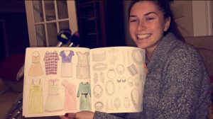 Meghan showing off her coloring book.