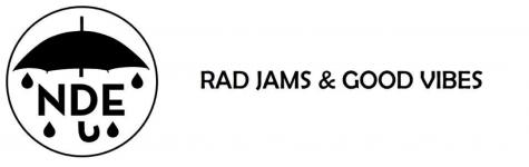 The most recent NDE Rad Jams & Good Vibes logo.