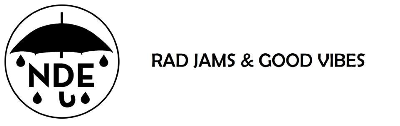 The most recent NDE Rad Jams & Good Vibes logo.