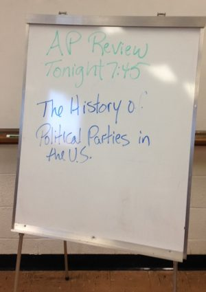 Students and teachers have spent several nights this year reviewing US History 1's curriculum.