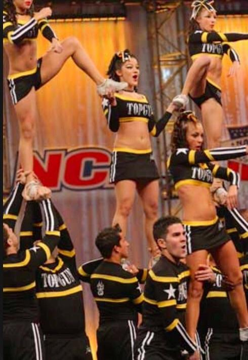 Christina at a FL competition with the Jags