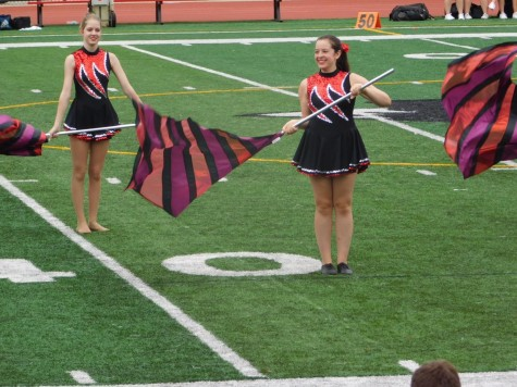 At the start of junior year, Mandy joined color guard after the suggestion of her friend, Nina Rauth