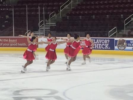 The Synchroettes last practice before the Eastern Skating Championship.