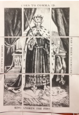 Some primary documents include political cartoons such as this that students must interpret.