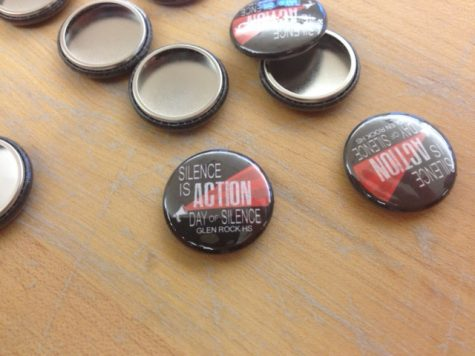 Students who wanted to show their support for Day of Silence but chose not to take the pledge were given pins to wear throughout the day. In years past, students were given stickers to show support, however this year, the GSA made and gave out buttons instead.