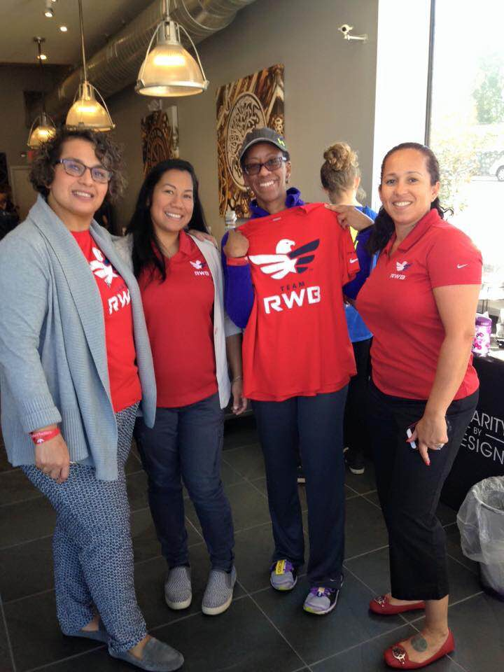 Pictured left to right is Lucy Del Gaudio, Northern New Jersey Chapter Captain, Diana Michola, Northern New Jersey Community Captain, Crystal Jackson, and Petri Martinez, Northern New Jersey Social Captain (Photo Credit: Lucy Del Gaudio)