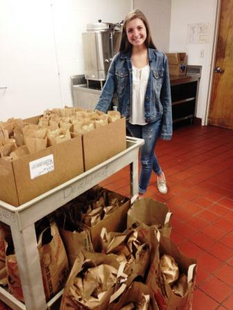 Anne Nebbia ('17) put together the collection of lunches in collaboration with Eva's Village, a charity based out of Paterson.