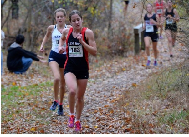 Burgoyne competes in a state cross country meet this fall.