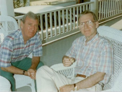 Ron and Bob Zier in the summer of 1994 on the front porch of their summer home in Bayhead, NJ.