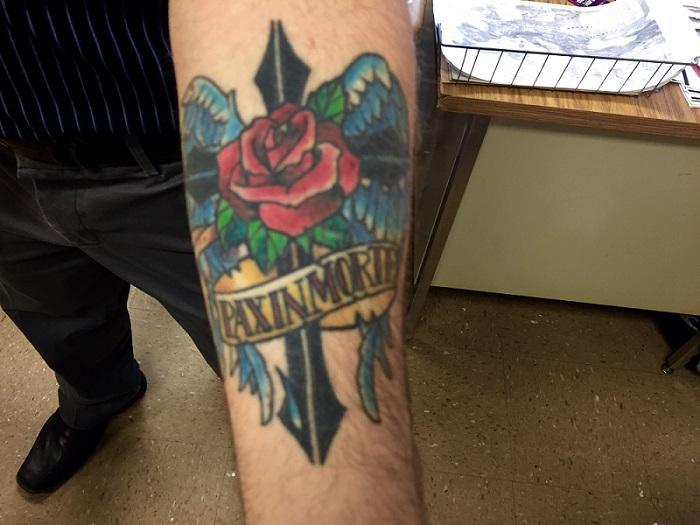 Brian Montalbano's tattoo.