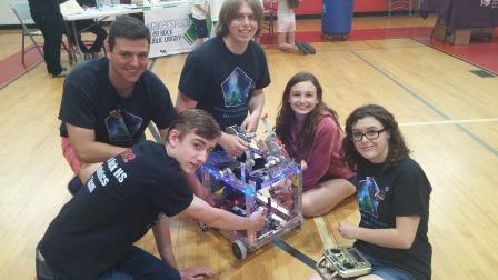 Robotics team hosts First Lego League Junior and presents robotics to 8th grade students