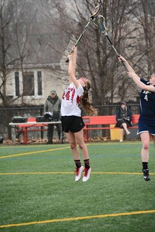 Mary Kate catches a ball, as she plays for her school's lacrosse team. Taken on the lower field at Glen Rock High School. Mary Kate started playing lacrosse in third grade, and plans to pursue her career in college.
