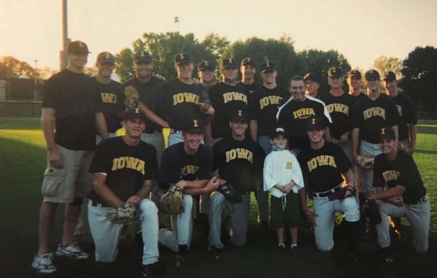 Although basketball was his favorite, Weiss also enjoyed meeting players from other Iowa sports teams including the baseball team.