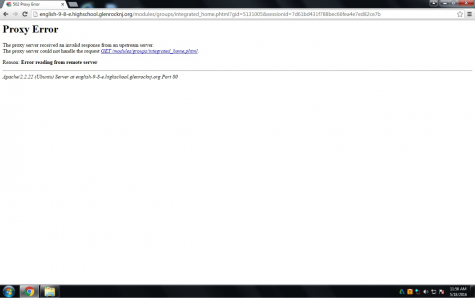 A common webpage that would pop up while trying to access school fusion while the webpage was down.