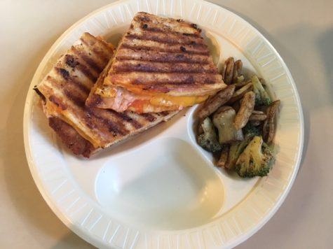 The buffalo chicken panini is too good not to order at least once. Filled with chicken cutlet, cheddar cheese, hot sauce, and ranch this sandwich drips with goodness. In addition to the panini this meal also comes with your choice of a side pasta salad.