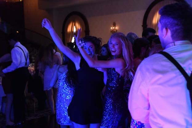 Senior Julia Rooney and senior, Hannah Vanderwall live it up on the dance floor at last year's junior prom which occurred on a Friday night. The Class of 2017's junior prom was agreeably said to be one of the best nights of their lives so far.