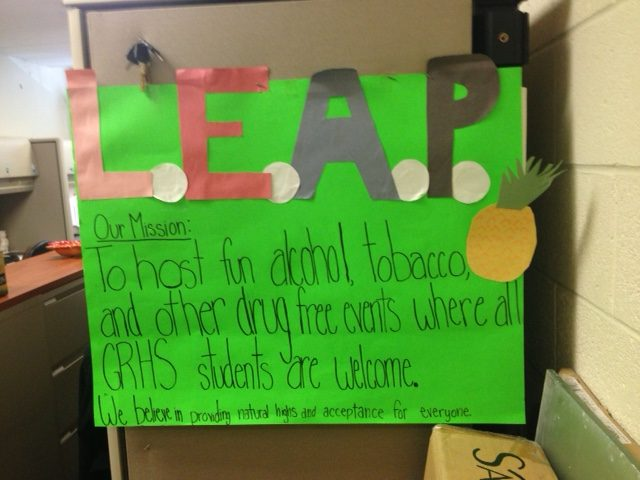 LEAP+poster+created+by+co-president%2C+Madie+Jones.+The+poster+hangs+in+the+art+office+by+Ms.+Dunay%27s+desk.+%22LEAP+is+just+having+fun+with+a+great+group+of+people%2C+it%27s+a+great+way+to+spend+your+time%2C%22+Jones+said.+