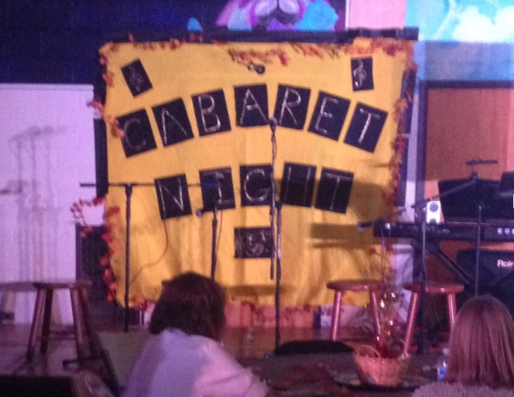 Look for the yellow banner at this years Cabaret Night; it has been used for over a decade.