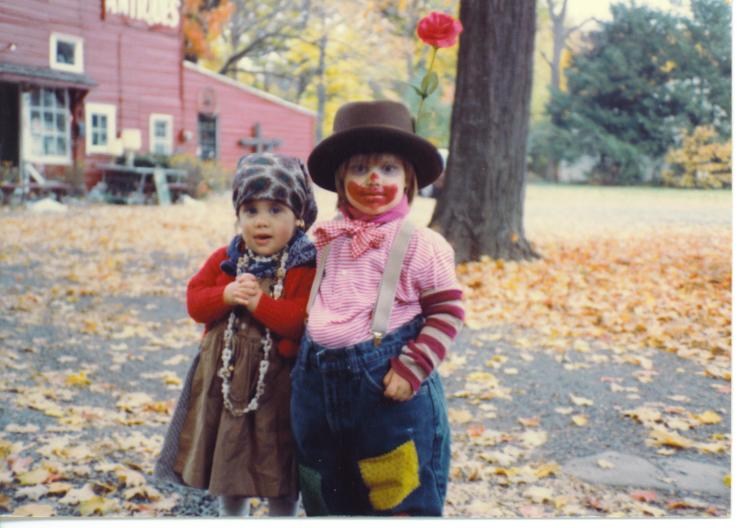 Ms. Nicole Rusin dresses as a clown for Halloween alongside her brother during a childhood Halloween. There have been reports of scary clowns terrorizing children, which is possibly affecting this coming Halloween.