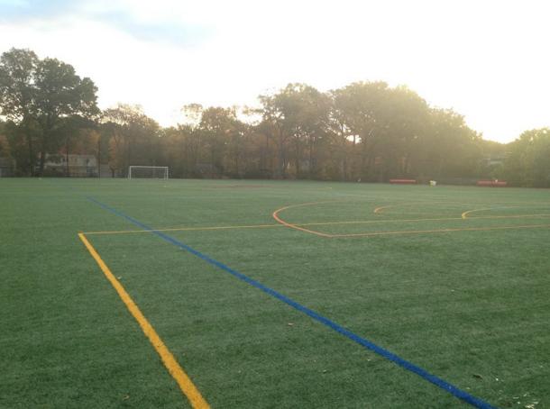 Glen Rock High School field where soccer home games are held.