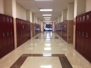 The junior hallway that many parents walk down at back to school night.