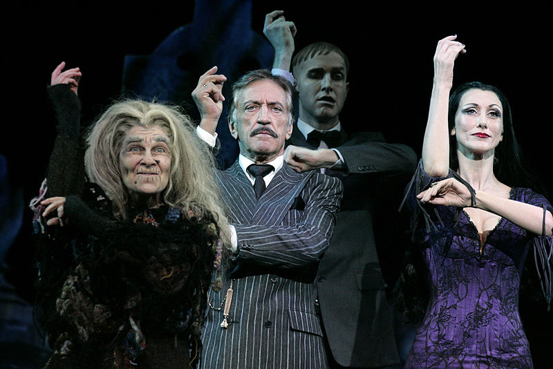 Actors perform the musical The Addams Family in Sydney, Australia.