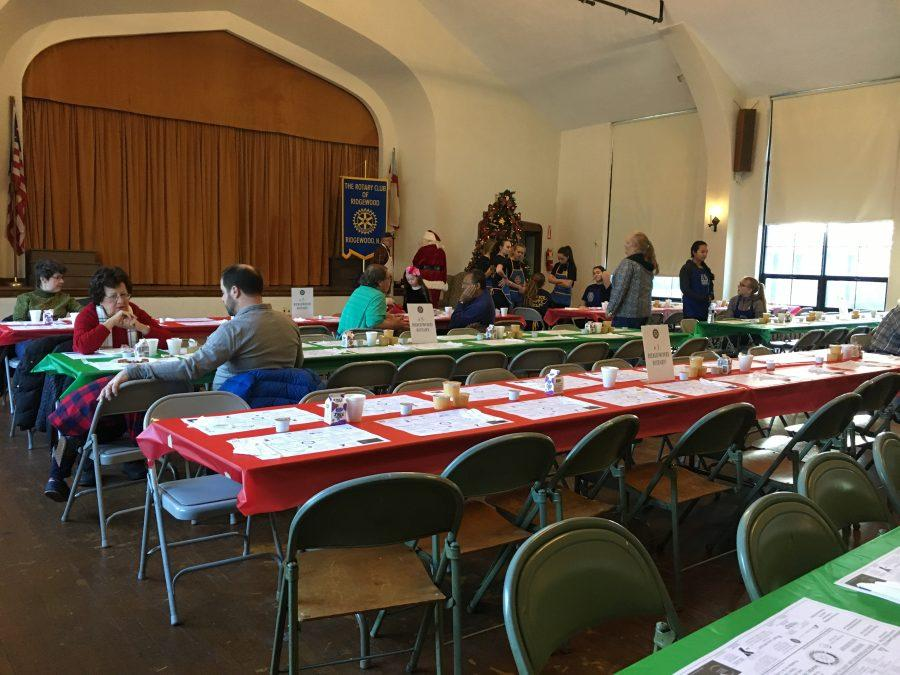 The Interact Club helped the Rotary Club with its annual pancake breakfast on Dec. 3.