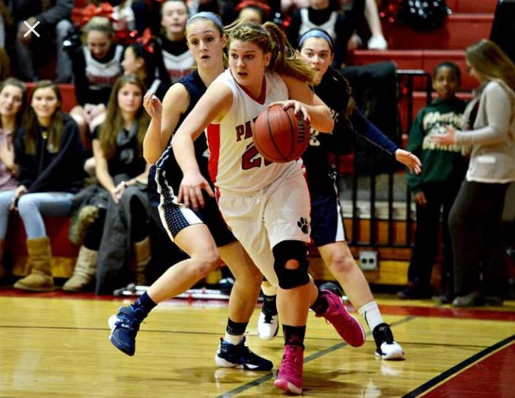 Kelly Lohr scored 23 points in the first game of the Girls' Varsity Basketball season