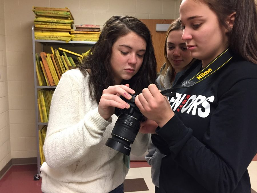 The Yearbook Club played catch-up for the past few weeks after a memory card containing