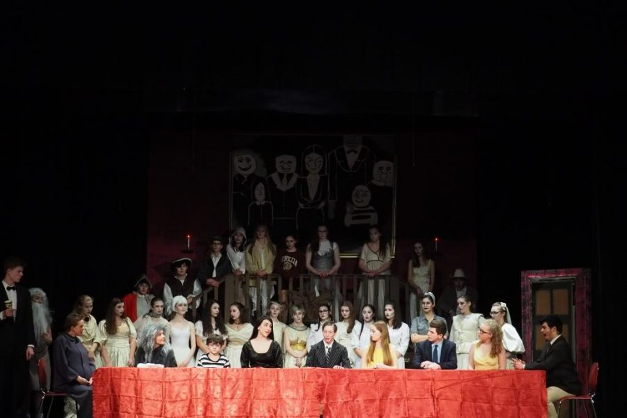 The entire cast performs Full Disclosure, the Act One finale of The Addams Family.