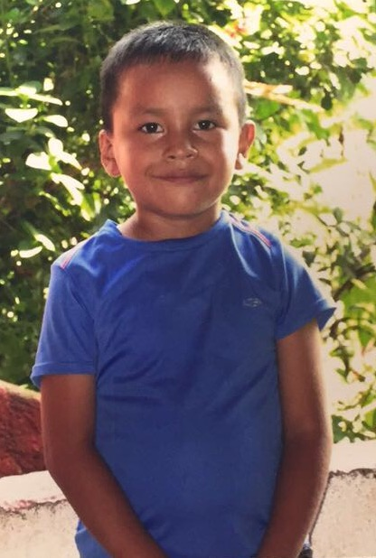 David Abraham Auxen, boy sponsored by GRHS Spanish Club, is from Guatemala.